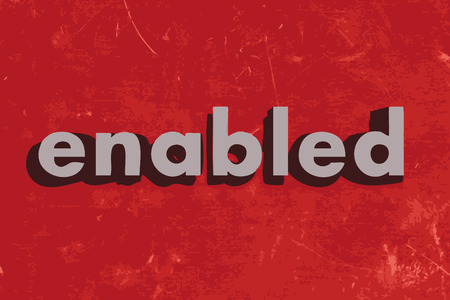 enabled: enabled vector word on red concrete wall Illustration