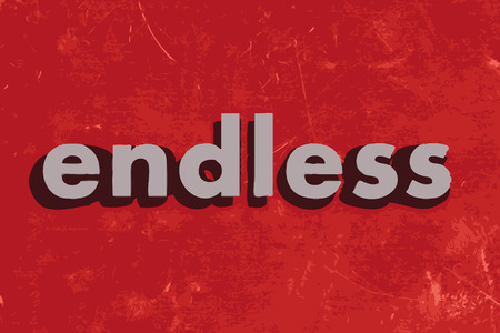 endless: endless vector word on red concrete wall