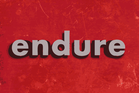endure: endure vector word on red concrete wall