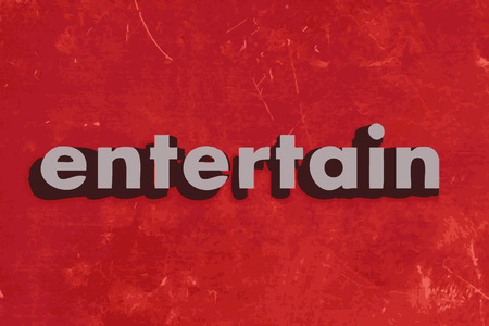 entertain: entertain vector word on red concrete wall Illustration