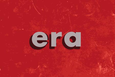 era: era vector word on red concrete wall Illustration