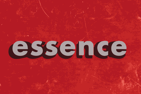essence: essence vector word on red concrete wall