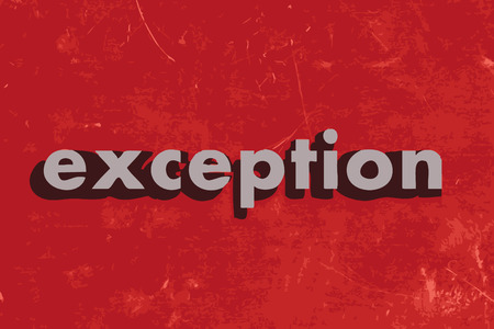 exception: exception vector word on red concrete wall Illustration