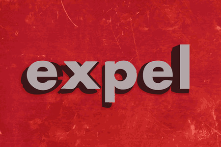expel: expel vector word on red concrete wall
