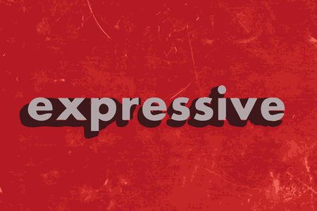 expressive: expressive vector word on red concrete wall