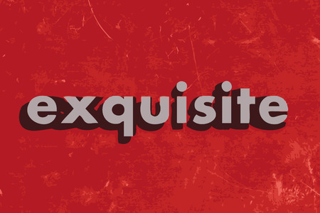 exquisite: exquisite vector word on red concrete wall Illustration