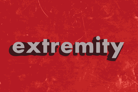 extremity: extremity vector word on red concrete wall