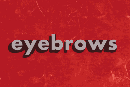 eyebrows: eyebrows vector word on red concrete wall Illustration
