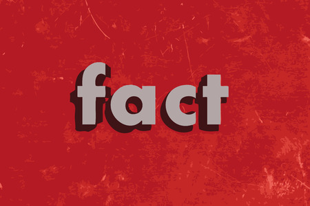fact: fact vector word on red concrete wall Illustration