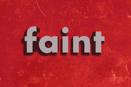 faint: faint vector word on red concrete wall