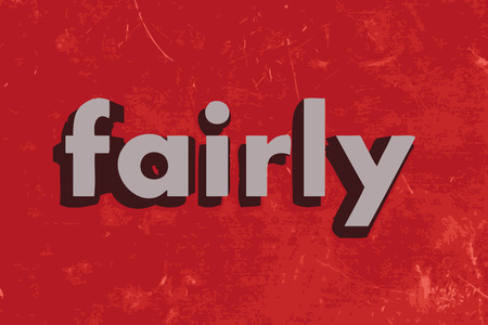 fairly: fairly vector word on red concrete wall