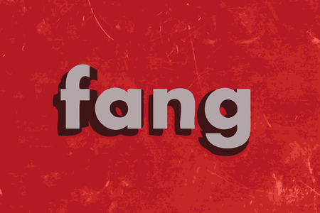fang: fang vector word on red concrete wall Illustration