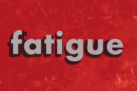 fatigue: fatigue vector word on red concrete wall Illustration