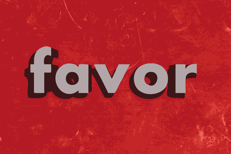 favor: favor vector word on red concrete wall Illustration