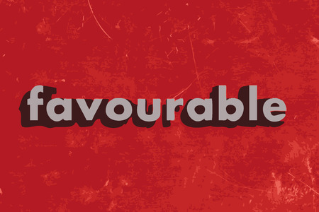 favourable: favourable vector word on red concrete wall Illustration