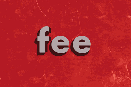 fee: fee vector word on red concrete wall Illustration