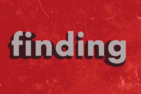 finding: finding vector word on red concrete wall