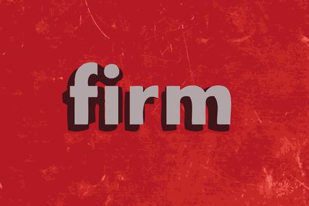 fermo: ferma parola vettoriale su muro di cemento rosso Vettoriali