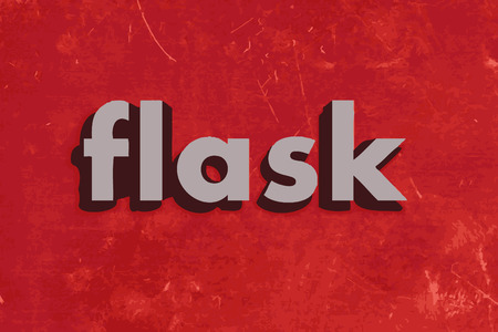 flask: flask vector word on red concrete wall