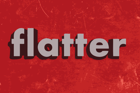 flatter: flatter vector word on red concrete wall