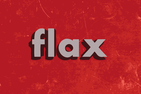 flax: flax vector word on red concrete wall
