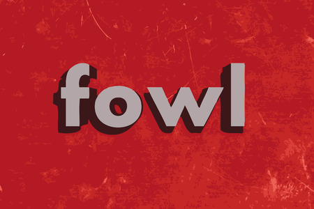 fowl: fowl word on red concrete wall