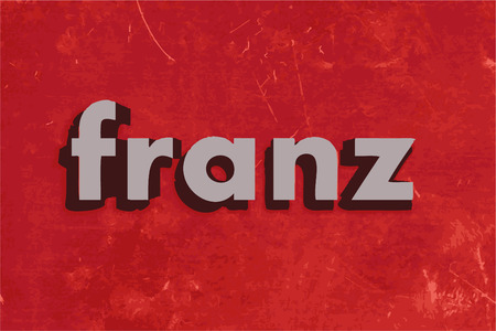 franz: franz vector word on red concrete wall