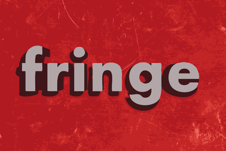 fringe: fringe vector word on red concrete wall