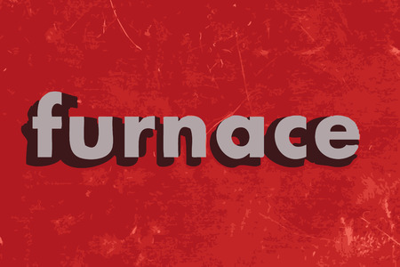 furnace: furnace word on red concrete wall