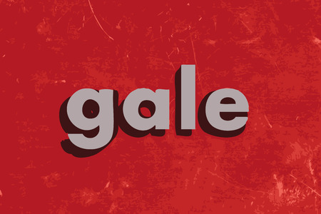 gale: gale word on red concrete wall