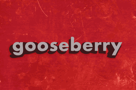 gooseberry word on red concrete wall