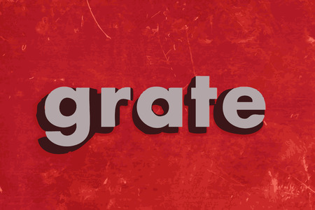grate: grate word on red concrete wall Illustration