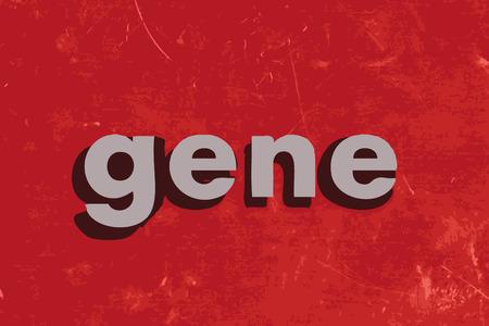 gene: gen woord over de rode betonnen muur Stock Illustratie