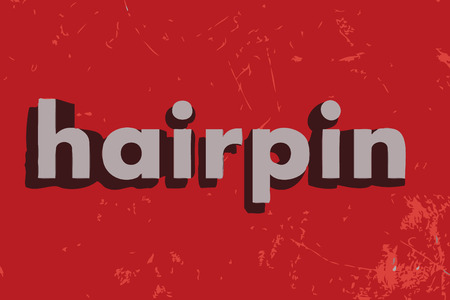 hairpin: hairpin word on red concrete wall