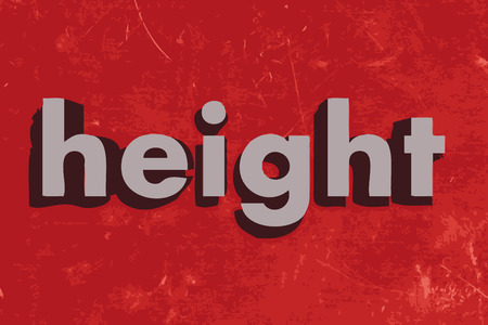 height: height word on red concrete wall