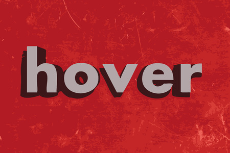 hover: hover word on red concrete wall
