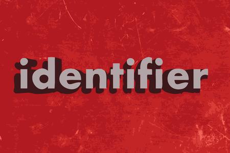 identifier: identifier vector word on red concrete wall Illustration