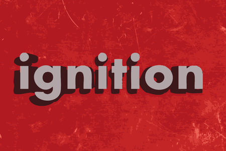 ignition: ignition vector word on red concrete wall Illustration