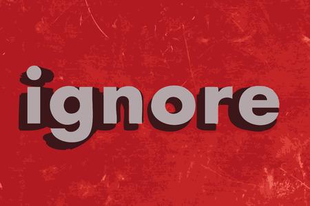ignore: ignore word on red concrete wall