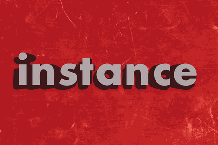 instance: instance word on red concrete wall Illustration