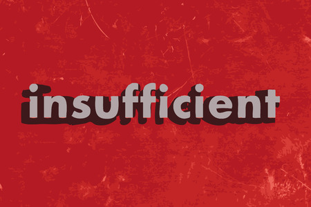 insufficient: insufficient word on red concrete wall