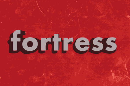 fortress: fortress word on red concrete wall