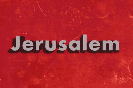jeruzalem: Jeruzalem woord over rode betonnen muur