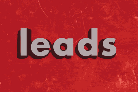 leads: leads word on red concrete wall