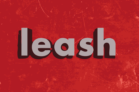 leash: leash word on red concrete wall