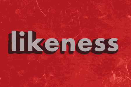 likeness: likeness vector word on red concrete wall