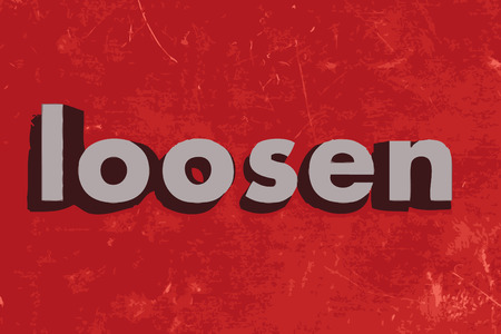 loosen: loosen vector word on red concrete wall