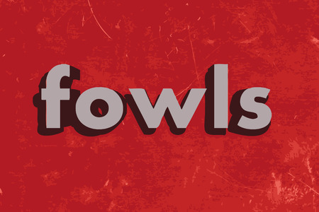 fowls: fowls word on red concrete wall