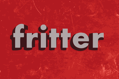 fritter: fritter word on red concrete wall Illustration