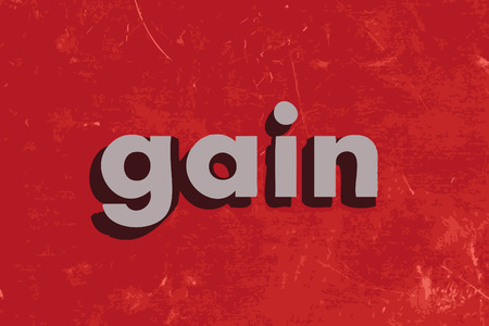 gain: gain word on red concrete wall